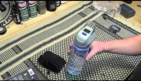 Self-filtering water bottle also acts as a flashlight 1